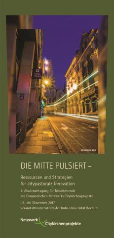Titelseite des Flyers: Lichter in der Stadt
